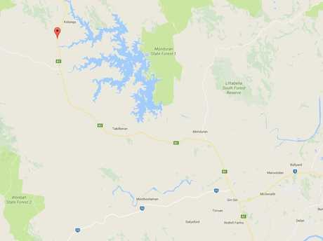 The crash happened on the Bruce Highway at Kolongo, about 30km north of Gin Gin.