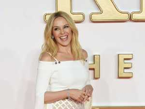 Australian singer and actress Kylie Minogue poses during the world premiere of the movie Kingsman: The Golden Circle in Leicester square in London.