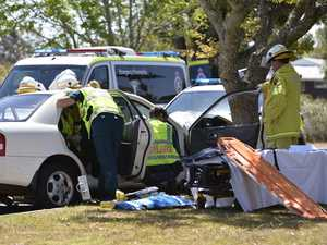 Crash at Centenary Heights