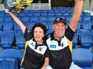 BRING IT ON: Falcons supporters at Sunshine Coast