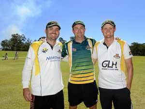 FAMILY FORCE: Hillier brothers (from left) Marcus, Michael and Robert have teamed up to help Norths in the upcoming cricket season.