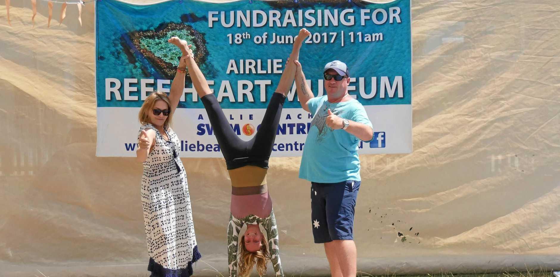 FUNDING JOY: Reef Club committee members Alison Mason, Annika Grunwald and Aaron Anderson.