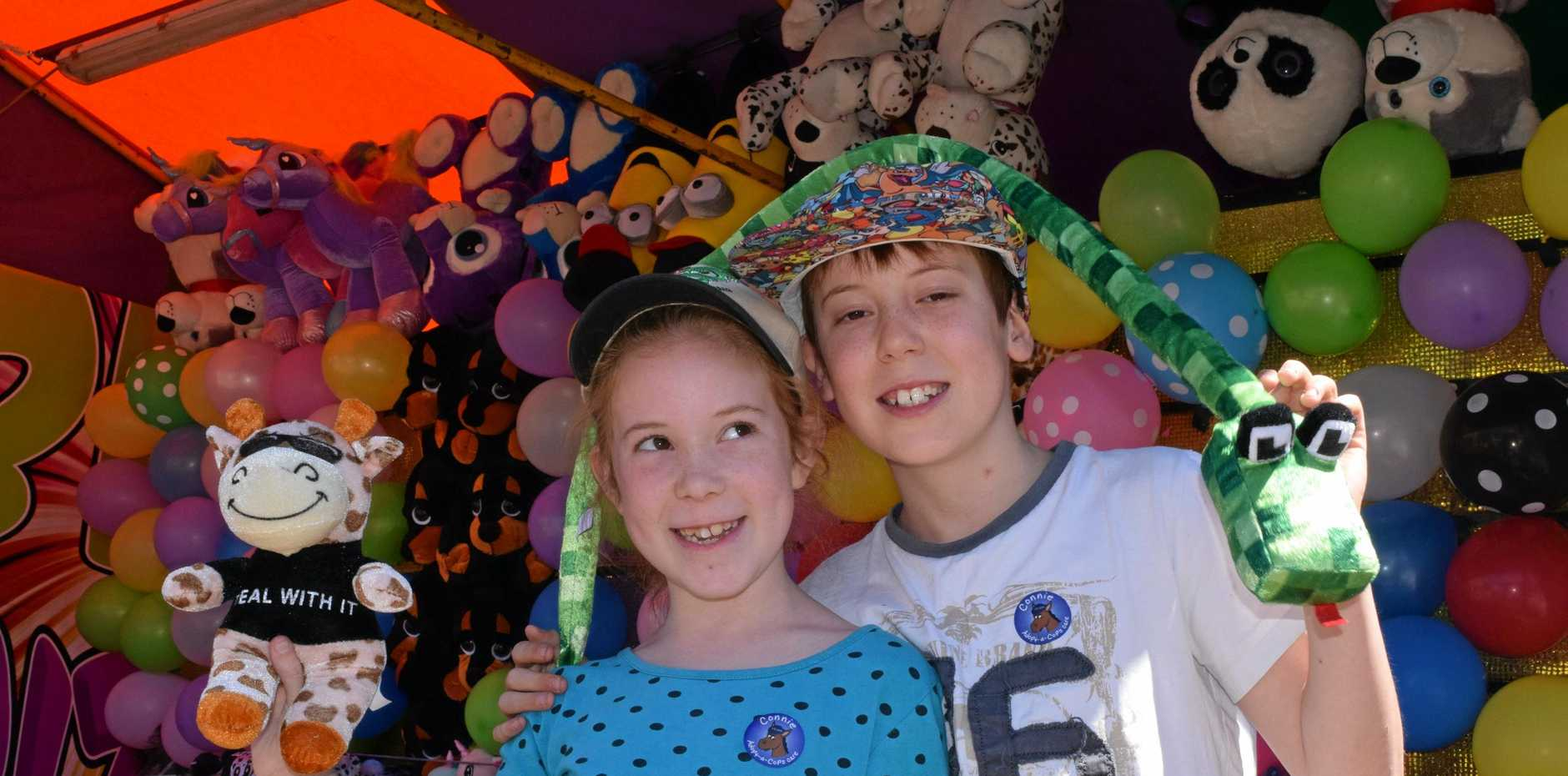 Darcie, 9, and Cooper, 10, Withers from Cooroibah