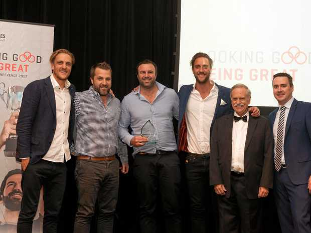 SYDNEY AWARDS: Simon Vos, Michael Lee, James Webb, Shannon Vos, Bob Beaumont and Shaun Cousins.