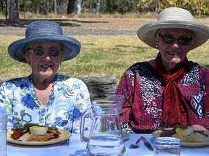 Locals enjoy produce from the Burnett