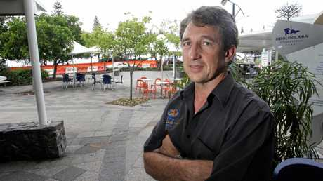 FLASHBACK: Ric Outtrim surveys the works on the new taxi rank on Mooloolaba Esplanade back in 2007.
