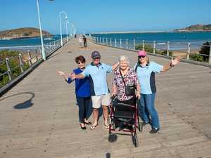 CLUB ENDANGERED: Two thirds of the Coffs Harbour Lions Club Sandra Seyner, Don Marker, Coralie Falconer, Rosalie Skinner.