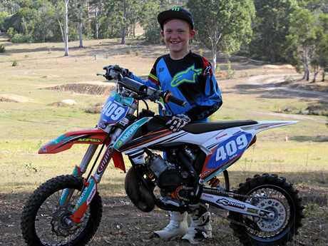 Gympie's Luke Constantine with his bike.