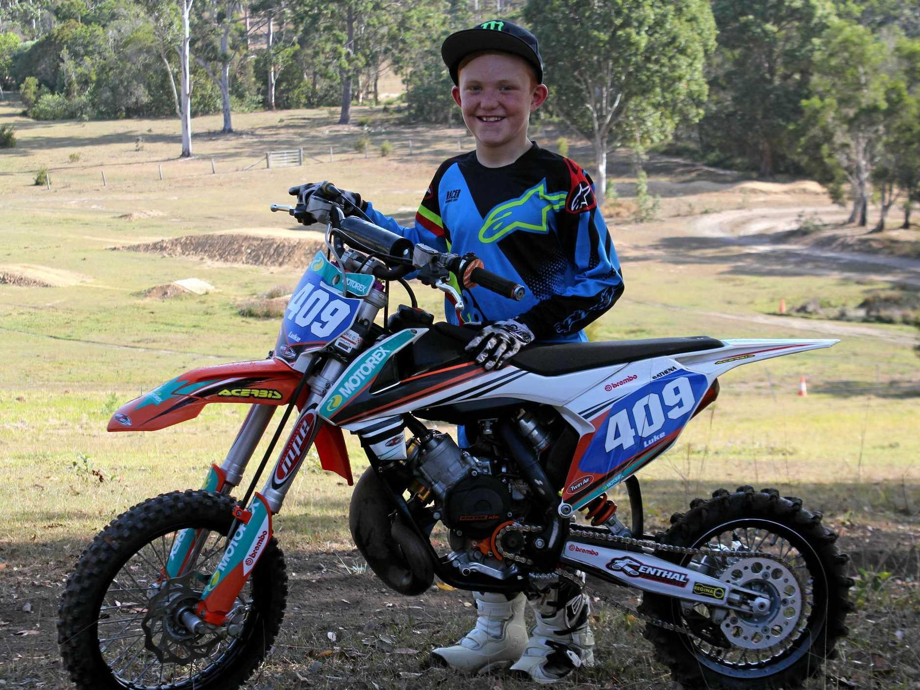GYMPIE motocross rider Luke Constantine will fly the Queensland flag at this year's KTM Australian Junior MotoX Titles in Horsham, Victoria.