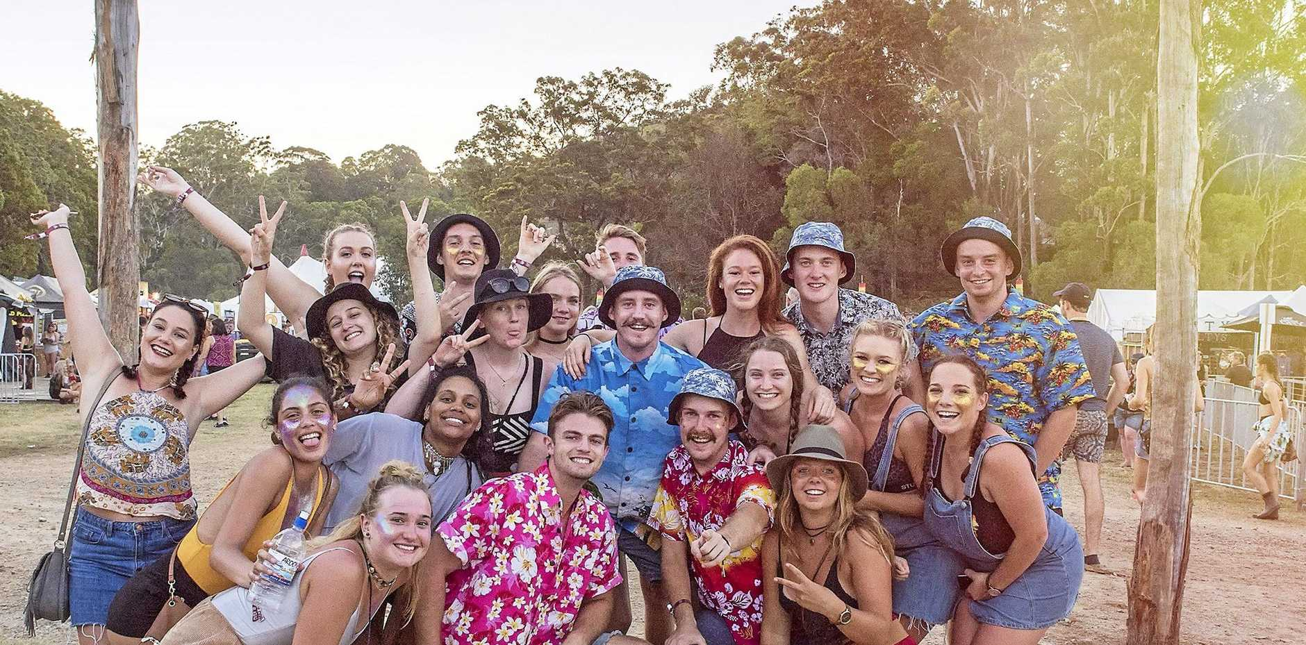 Crowds at Falls Festival in Byron Bay. Photo: Niche Pictures - Lyn McCarthy