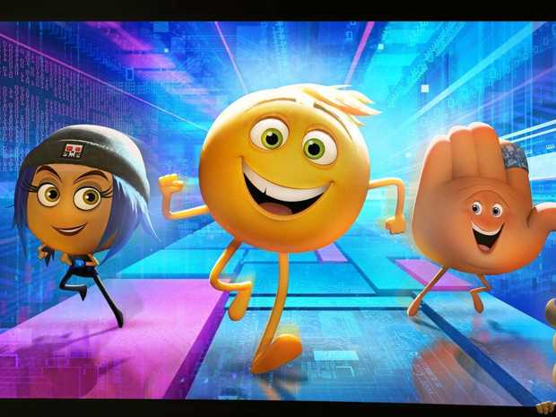 HOLIDAY FUN: Gene is an emoji that lives in Textopolis, a digital city inside the phone of his user Alex, in The Emoji Movie.