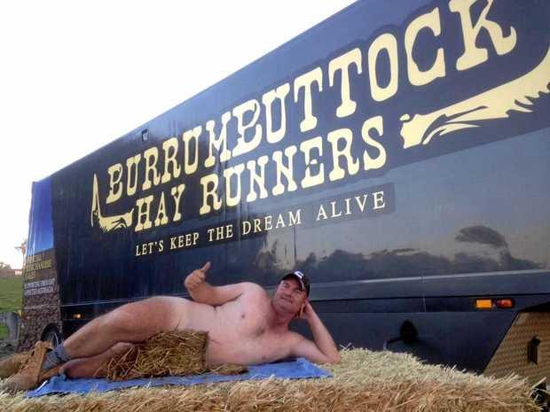 BARE ESSENTIALS: Burrumbuttock Hay Runner founder Brendan Farrell.