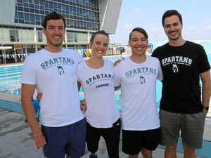 SPLASH: Blake Cochrane, Ellie Cole, Braedan Jason and Spartans coach Nathan Doyle are off to the World Para Swimming Championships in Mexico.