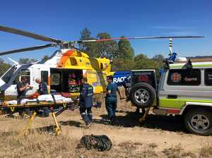 A woman had to be airlifted to the PA Hospital in Brisbane after the incident.