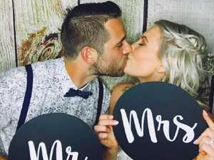 Ben's wife Leah died of melanoma soon after their wedding.Source:Facebook