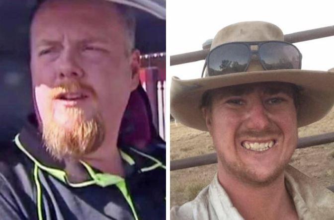 True Aussie hero Michael Van Baast, left, with ute driver Jacob Prosser, right.