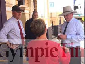 Video: Barnaby cops a spray