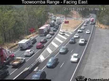 Camera captures traffic congestion on the Range.