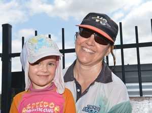 TAKING A BREAK: Lani and Belinda Napier at Bucca