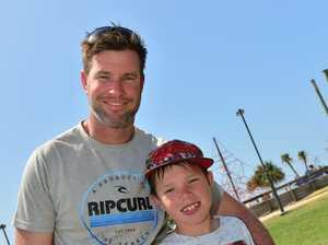 Ben and Lucas Finn enjoying the school holidays at