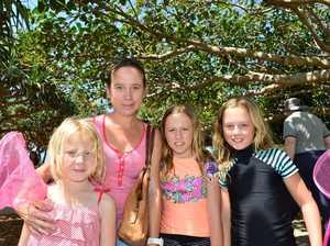 Katy, Ruby, Lola and Lilly Williams enjoying the