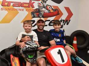 HOLIDAYS: Out and about at the Big Kart Track are