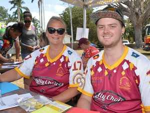 Deadly Choices volunteers Kirsten Hellemann and Josh