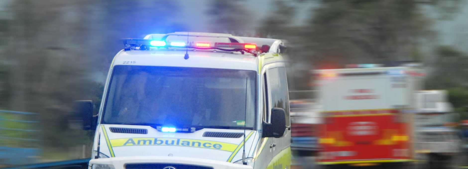 SIX-VEHICLE CRASH: Three people have been taken to Gladstone Hospital (file picture).