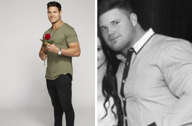 Apollo, aka Jack Spence, vies for Sophie Monk's heart on The Bachelorette, and right, Apollo before he lost 'half his body weight'