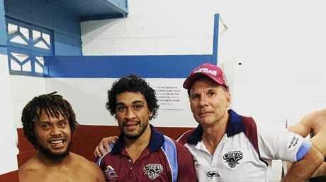 Lance Kuveu, Maipele Morseu and Lyle Baker.