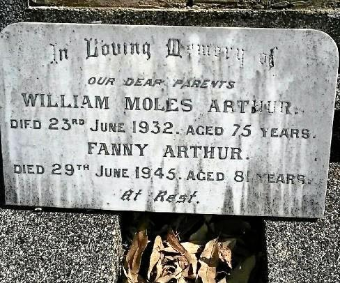 Final resting place for Lismore pioneer Willam Arthur.