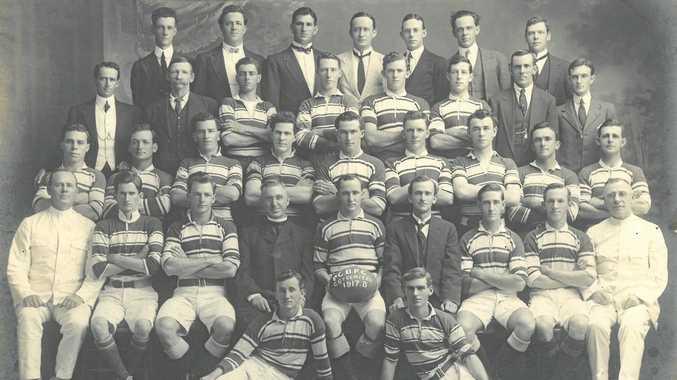 The Rockhampton Brothers premiership winning team of 1918.