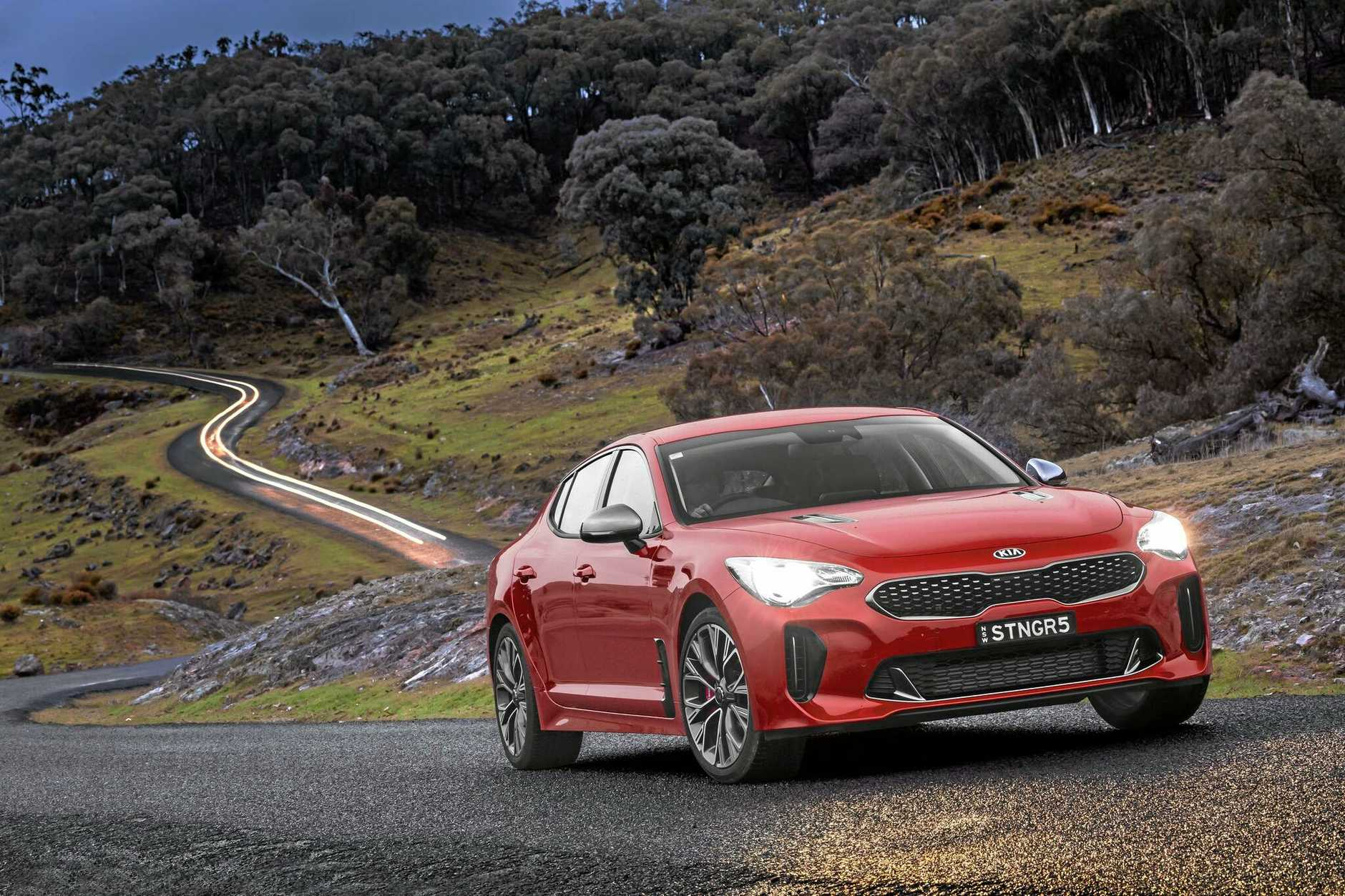 The mid-range Kia Stinger Si.