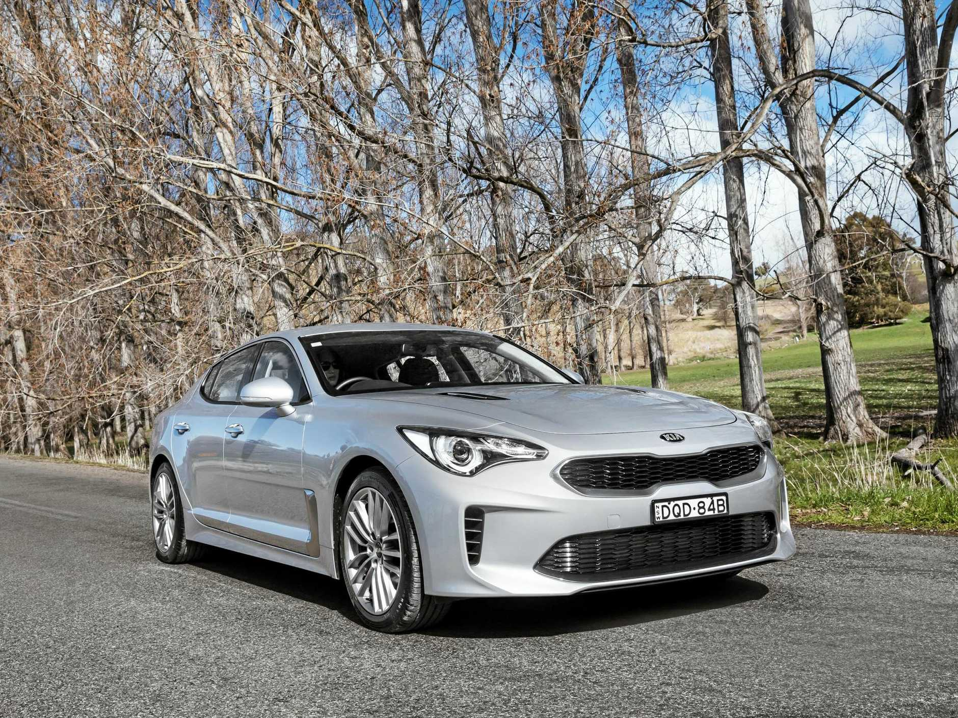The entry-level Kia Stinger S, which starts from $45,990 with a 2.0-litre turbocharged engine, and $48,990 with the V6.