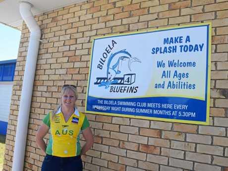 Olympic Gold Medallist Jess Schipper visited the Biloela Swim  Club on Saturday.