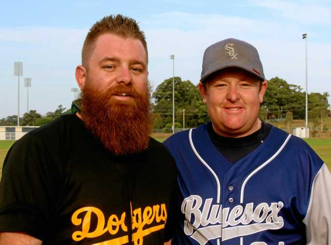 BASEBALL FRENEMIES: Tye Gould (Dodgers) and Ben McCall (BlueSox) will face off in today's A grade grand final.