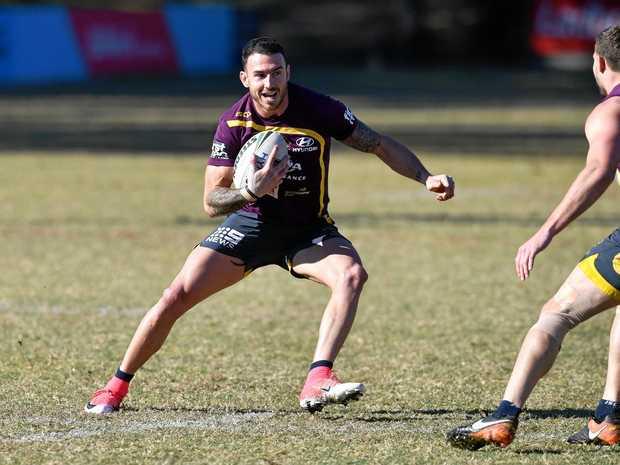 Darius Boyd during a Brisbane Broncos training session.