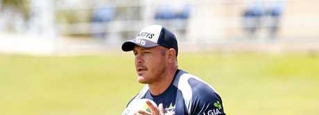 Matt Scott of the North Queensland Cowboys training at 1300 SMILES Stadium.