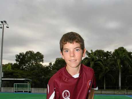 Jaedon Evans ready for his Queensland duties back in 2012.