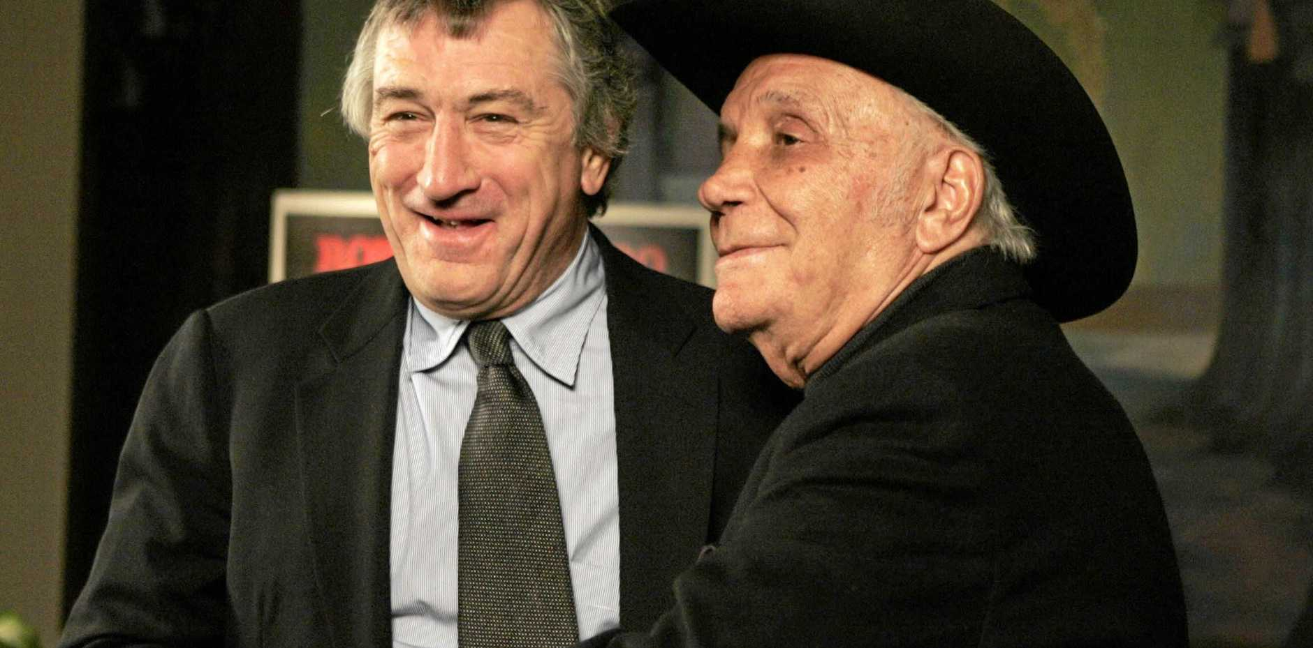 Robert DeNiro, left, and boxer Jake LaMotta together in 2005.