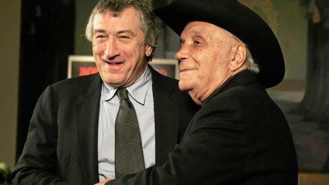 Robert DeNiro, left, and boxer Jake LaMotta together in 2005.