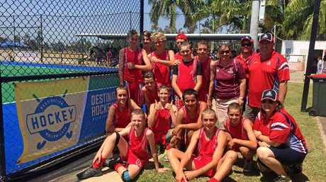 TEAM MATES:  Harrison Lassig, 15, has been diagnosed with burkitts lymphoma. A cancer which has spread aggressively through his body. His Bundaberg Hockey team mates shaved their heads to show support for the teenager.