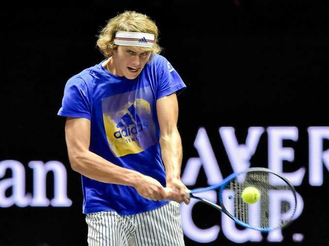 German tennis player Alexander Zverev will face Australia in the Davis Cup in February.