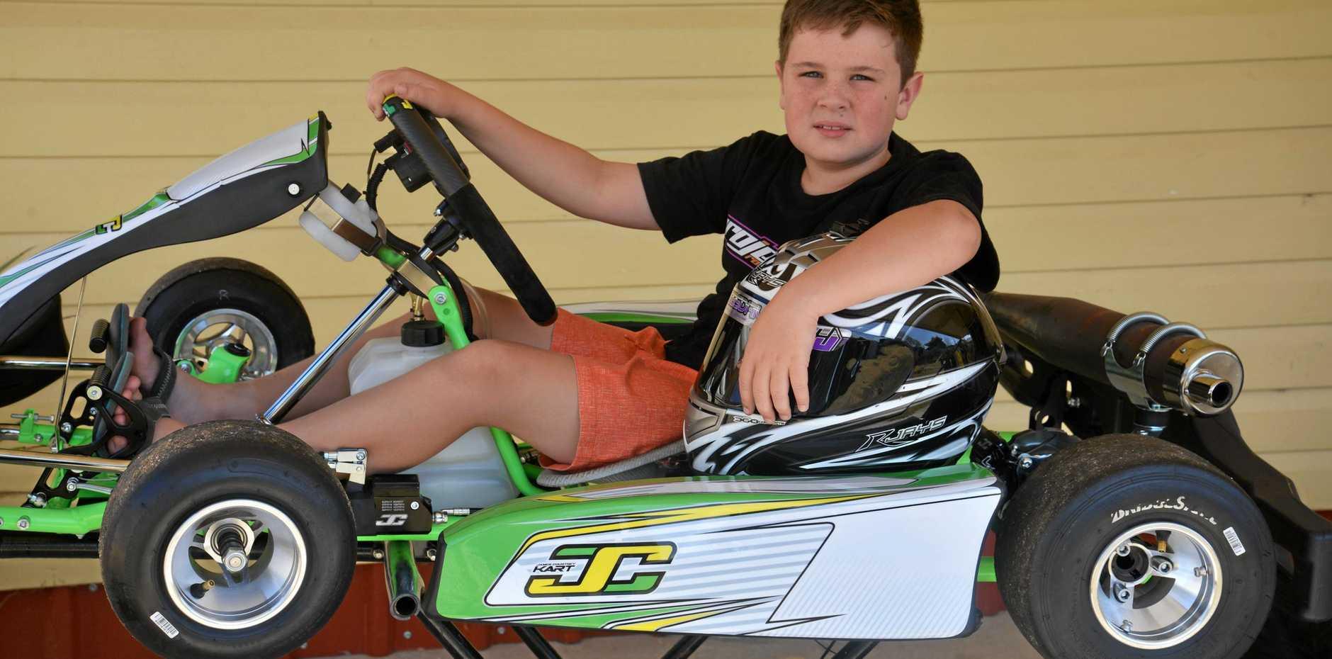 RACING: Warwick driver Jayden O'Dea is gearing up for this weekend's Junior Top Guns at Sandy Creek Raceway.