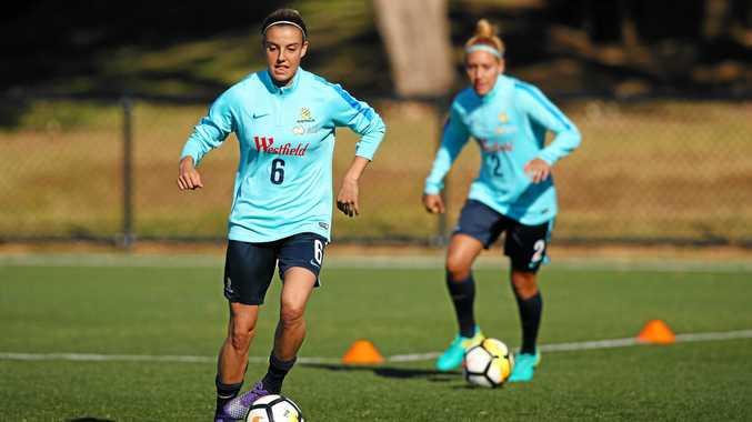 Chloe Logarzo during a Matildas training session in Sydney.