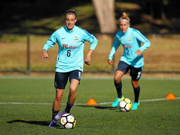 Chloe Logarzo during a Matildas training session in Sydney.