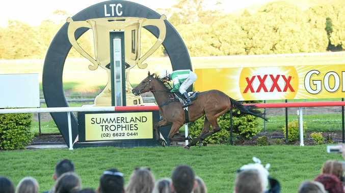 Larry Cassidy rides Collaboration to a 10 lengths victory in the 2016 Lismore Cup.
