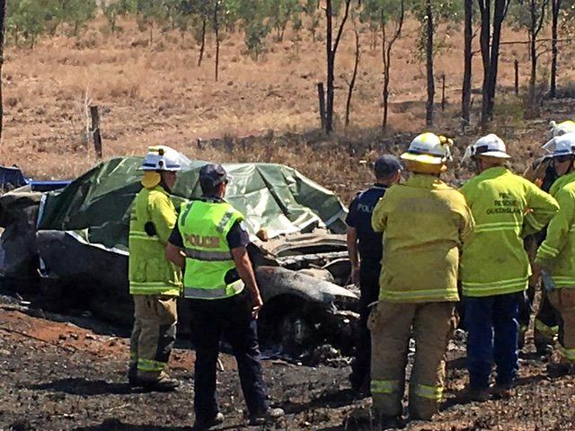 Two women died after a car burst into flames after it crashed into a tree with four people inside south of Rolleston.