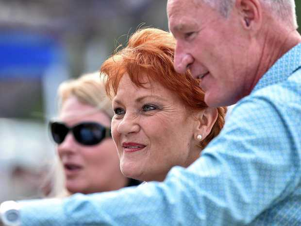 Pauline Hanson and Steve Dickson in happier times.