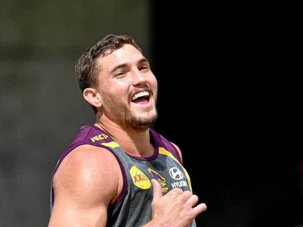 Corey Oates during the Brisbane Broncos' captain's run.